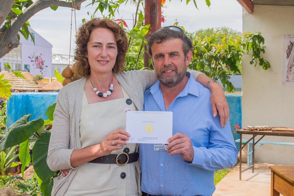 Jilyane Rickards Cormac Conway Gold for CAMFED Garden